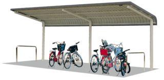 自転車の 自転車 転倒防止 柵 : サイクルラック | 自転車置場 ...
